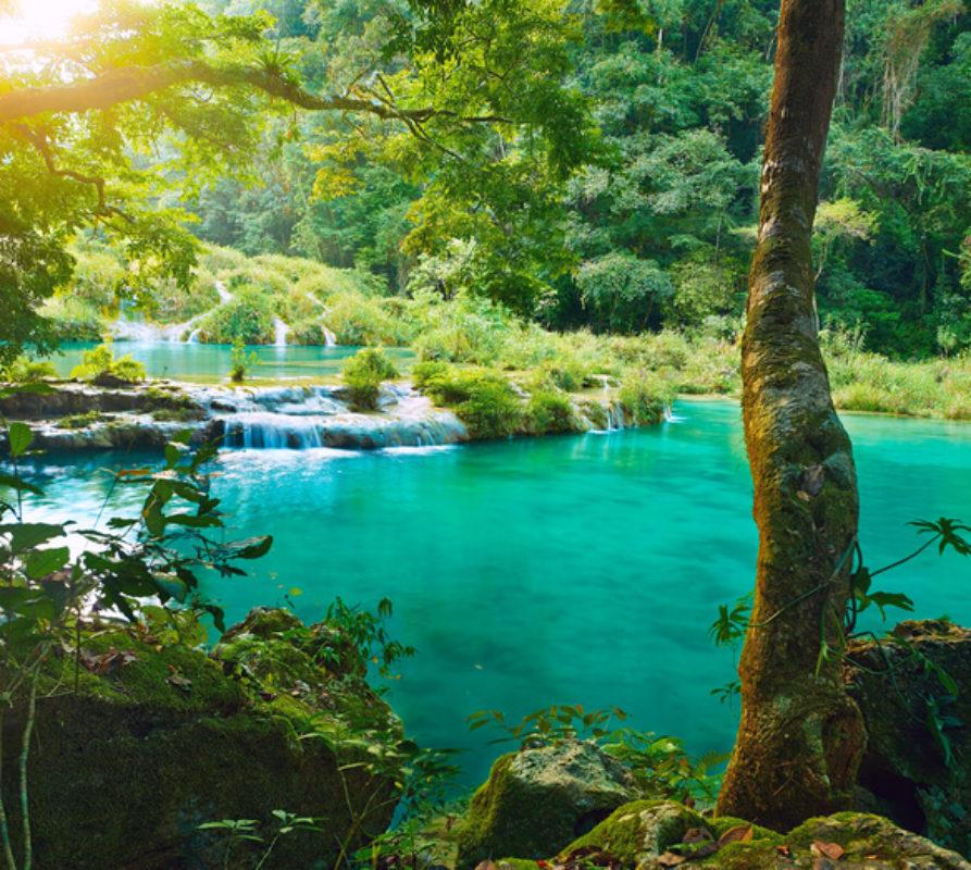 Semuc Champey, natuurwonder in Guatemala