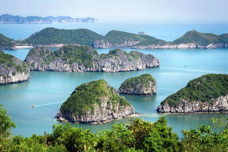 op huwelijksreis naar Vietnam