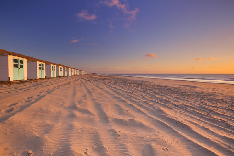 weids strand op texel